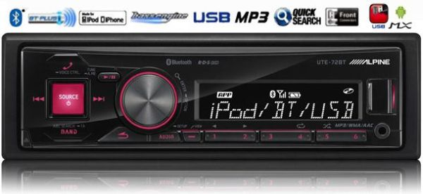 Alpine UTE-72BT auto-radio